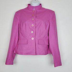 Chadwicks Pink Button Front Blazer Women 8P